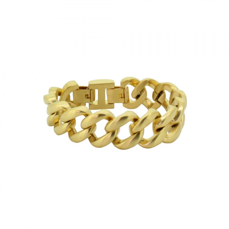 HANSE-KLUNKER METAL 20mm Armband 107730 Edelstahl 316L gold matt
