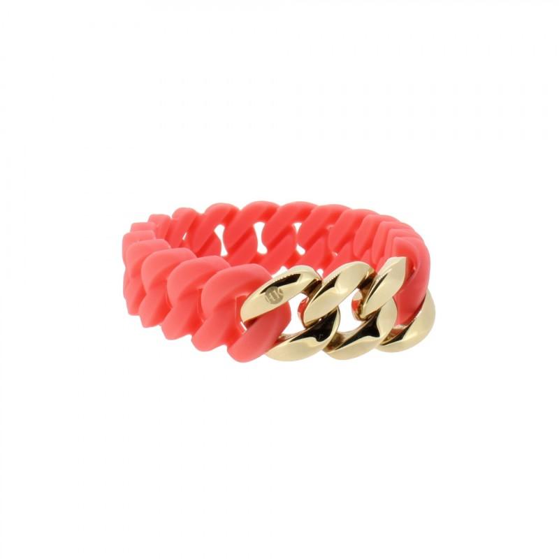 HANSE-KLUNKER MINI Damen Armband 107973 Edelstahl koralle rosegold