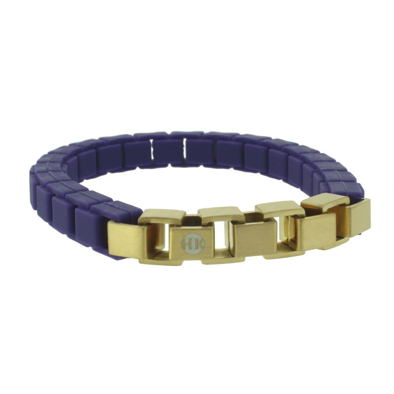 HANSE-KLUNKER FASHION Damen Armband 110473 Edelstahl purple gold matt