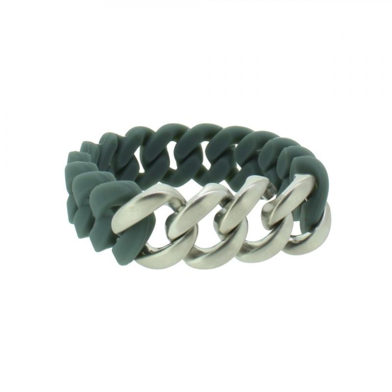 HANSE-KLUNKER ORIGINAL Herren Armband 107981 Edelstahl dunkelgrau silber matt