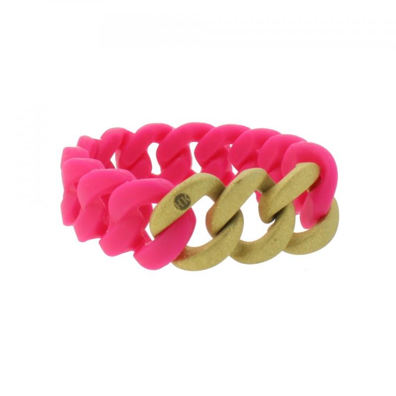 HANSE-KLUNKER ORIGINAL Damen Armband 107939 Edelstahl pink gold sandgestrahlt